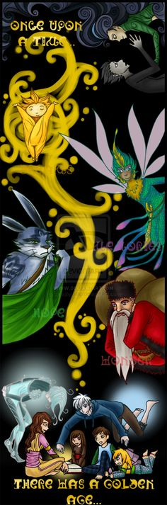 Fanart: Book of Belief by AmuletStar. Combination of Rise of the Guardians movie and the book series.