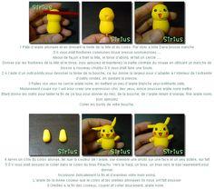 Turorial : How to make Pikachu (Pokemon) in polymer clay / Tutoriel : Réaliser… Pokemon Party, Pokemon Birthday, 8th Birthday, Advent Themes, Pikachu Cake, Christmas Clay, Fondant Tutorial, Clay Tutorials, Kawaii
