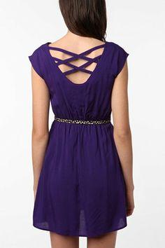 Urban Renewal Lattice Back Dress - Urban Outfitters