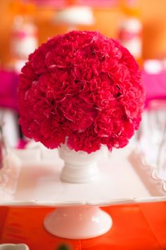 Three Step Pomander Flower Ball Tutorial; perfect for party centerpieces!  @frogprincepaperie
