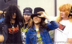 Slash, Axl Rose, Lars Ulrich & Dave Mustaine