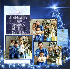 Merry Christmas and Happy New Year from Ella and Viv Paper Co - Blue Christmas Collection. Shop now at Scrapbook.com.