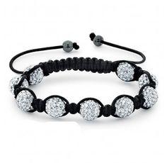 Clear Crystal Shamballa Bracelet