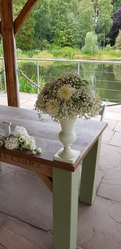 Perfect domes of gypsophila and dahlias for an all white ceremony look for his recent wedding Gypsophila, Table Flowers, Making Memories, Dahlias, All White, Wedding Season, Wedding Bells, Floral Design, Tables