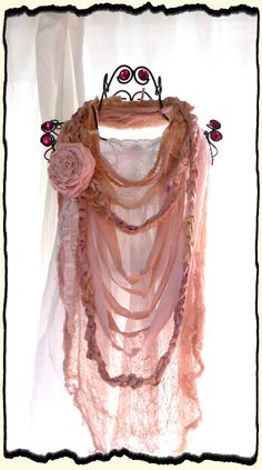 Shabby Chic Rose Necklace/Scarf.