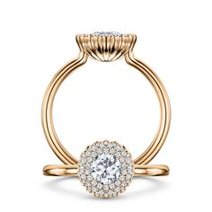 Cannelé Des Cévennes, rose gold white diamonds by Andrew Geoghegan
