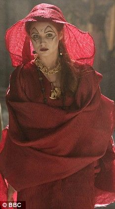 Scottish actress Karen Gillan as a soothsayer in Fires of Pompeii episode...