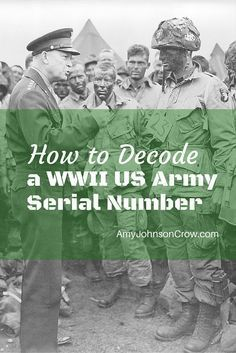 How to Decode a WWII US Army Serial Number Free Genealogy Sites, Genealogy Chart, Family Genealogy, Genealogy Search, Genealogy Forms, Family Tree Research, Genealogy Organization, History Magazine, Family History