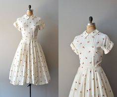 1950s dress / linen 50s dress / Skip Along dress by DearGolden, via Etsy.
