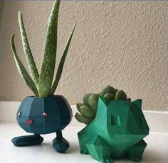 Sick Oddish and Bulbasuar pots #pokemon #plants