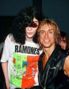 Joe Ramone and Iggy Pop