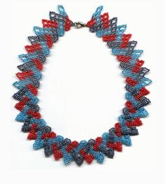 Beginners pattern seed beaded braided necklace by GBDesign on Etsy