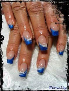 French Nail Art, French Nail Designs, French Tip Nails, Nail Art Designs, Fingernail Designs, Fun Nails, Pretty Nails, Self Nail, Nagel Hacks
