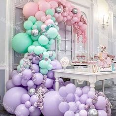 Balloon Bouquet, Balloon Arch, Balloon Garland, Balloon Decorations, Birthday Party Decorations, Baby Shower Decorations, Balloon Columns, Pastel Party Decorations, Birthday Snacks