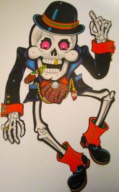 Vintage Beistle Skeleton from the 1970's