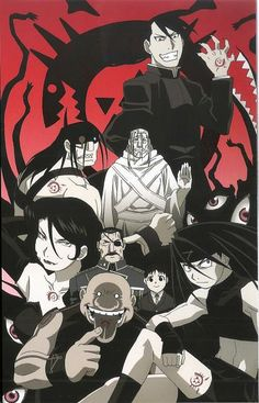 Day 9- favorite anime villains. Probably the Homunculi and Father. Some of them you can't help liking and the others you can't help hating. Gluttony still scares me