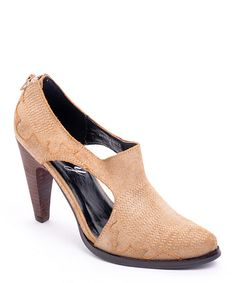 Look what I found on #zulily! Tan Cutout Bee's Knees Pump by Envy #zulilyfinds