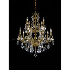 Vivace Gold 36-Inch 12-Light Chandelier