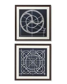 Geometric Blueprint Artwork   Williams-Sonoma