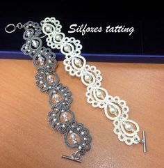 lots of chattering creations for all tastes a lot of tatting creations for .- lots of chattering creations for all tastes a lot of tatting creations for all tastes - Tatting Bracelet, Tatting Earrings, Lace Bracelet, Tatting Jewelry, Lace Jewelry, Tatting Lace, Jewelry Crafts, Crochet Earrings, Handmade Jewelry