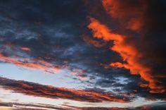 Sonnenuntergang, Himmel, Wolken