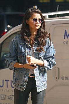October 11: Selena walking by the streets of New York, NY.