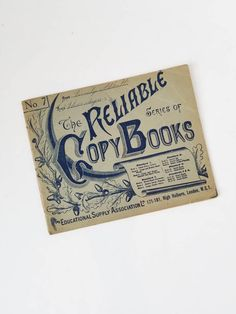 Vintage Reliable Copy Books Handwriting Practice Book Educational Supply Association London by SissyBoomsPartyRoom on Etsy