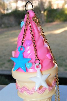 Super big Kawaii ice cream necklace by chippednailpolish on Etsy, $18.00