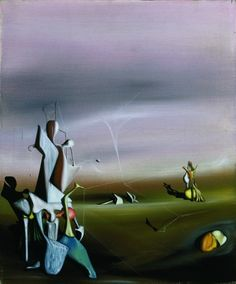 Yves Tanguy / The Silken Glance / oil on canvas / 1940