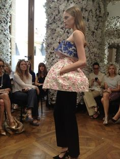 Everything You Need To Know About Raf Simons' First Dior Couture Show: Peplum and pants