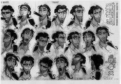 Film: THE ROAD TO EL DORADO ===== Character Design: Tulio (Expressions)