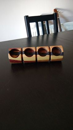 Segmented Wood Candle Holder by FromTheHeartWoodMK on Etsy Wood Candle Holders, Cuff Bracelets, Candles, Etsy, Accessories, Beautiful, Jewelry, Home Decor, Wooden Candle Holders