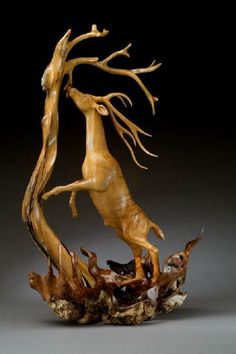 """*Wood Sculpture - """"High Calling"""" by J. Christopher White"""