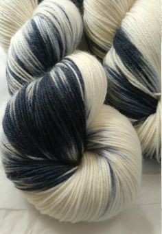 Barcode black and white sock yarn is included in the latest listing from eastofthree