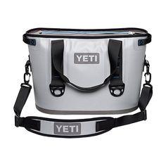 Amazon.com : YETI Hopper 40 Portable Cooler Fog Gray / Tahoe Blue : Sports & Outdoors