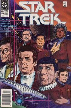 EUC Star Trek DC Comic Book 17 Mar 1991 The Crew Teams up with the Klingons! Comic book has been in sleeve since purchase. Star Wars, Star Trek Tos, Dc Comic Books, Comic Book Covers, Star Trex, Klingon Empire, Pulp Fiction Comics, Crew Team, Star Trek Original Series