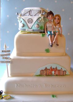 Cute! #cake www.BlueRainbowDesign.com