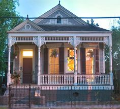 Typical Victorian Shotgun House in New Orleans. Looks like my great-grandparents' home on Magazine.