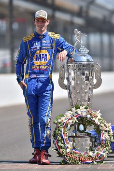 Race winner Alexander Rossi, Herta - Andretti Autosport Honda at Indy 500 High-Res Professional Motorsports Photography Indy Car Racing, Racing Shoes, Indy Cars, Indy 500 Winner, Band On The Run, Classic Race Cars, Indianapolis Motor Speedway, American Racing, Grand Prix