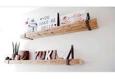 Wandplank met stalen dragers | Boekenkasten en wandmeubels | De Betoverde Zolder