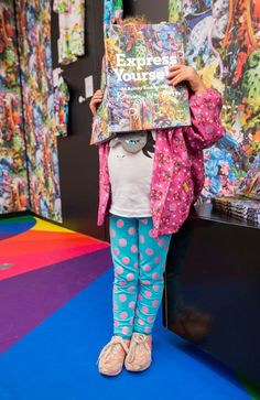 Based on the Express Yourself exhibit at the National Gallery of Victoria, Melbourne, this colorful activity book is perfect for kids (and adult kids). // Express Yourself: Romance Was Born for Kids publication. Available online or at the NGV design store. More at ngv.vic.gov.au