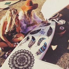 That Is One Sickk Surfboard <3 Summer Vibes <3