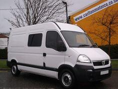 Vauxhall Movano 3500 2.5CDTI 120ps High Roof Crew Van Only 7K..Free UK Delivery Crew Van Diesel White
