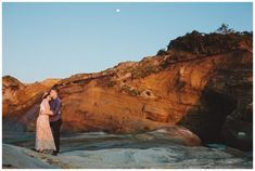 Engagement photos at Cape Kiwanda in Pacific City