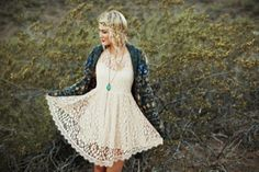 Floral Mesh Lace Dress style pic on Free People