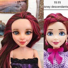 Jane is waiting for her dress to be ready #disney #descendants #doll #repainting #disneyprincess #dollcustom #customdolls #artdoll #dollstagram #dollphotography #disneydollrepaint #repaint #disneydescendants #dollrepaint #jane