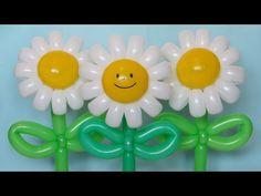 Ромашка веселая из шаров / Daisy flower of twisting balloons - YouTube