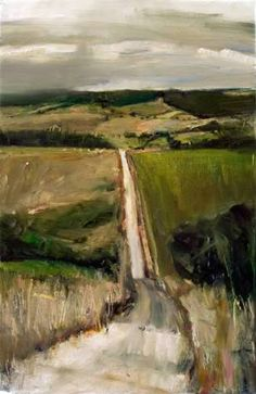 """Oil painting """"Road to No Where Else"""" by Kristian Mumford Contemporary Landscape, Landscape Art, Contemporary Artists, Beautiful Landscape Paintings, Watercolor Landscape, Paintings I Love, Art Paintings, Portrait Paintings, Acrylic Paintings"""