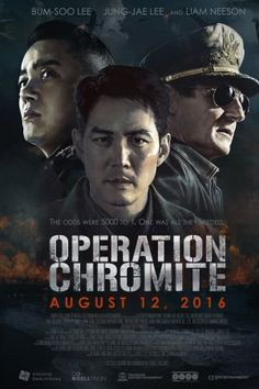 CJ Entertainment has provided us with an exclusive Operation Chromite trailer and poster! Liam Neeson stars as General Douglas MacArthur. Douglas Macarthur, Drama Movies, Hd Movies, Movies Online, Movies And Tv Shows, 2016 Movies, Liam Neeson, Incheon, Movies To Watch Free
