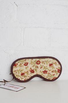 Handmade Eye Masks - Crimson Vine